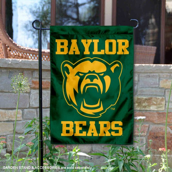 Baylor BU Bears New Bear Garden Flag is 13x18 inches in size, is made of 2-layer polyester, screen printed university athletic logos and lettering, and is readable and viewable correctly on both sides. Available with same day shipping, our Baylor BU Bears New Bear Garden Flag is officially licensed and team approved by the university and the NCAA.