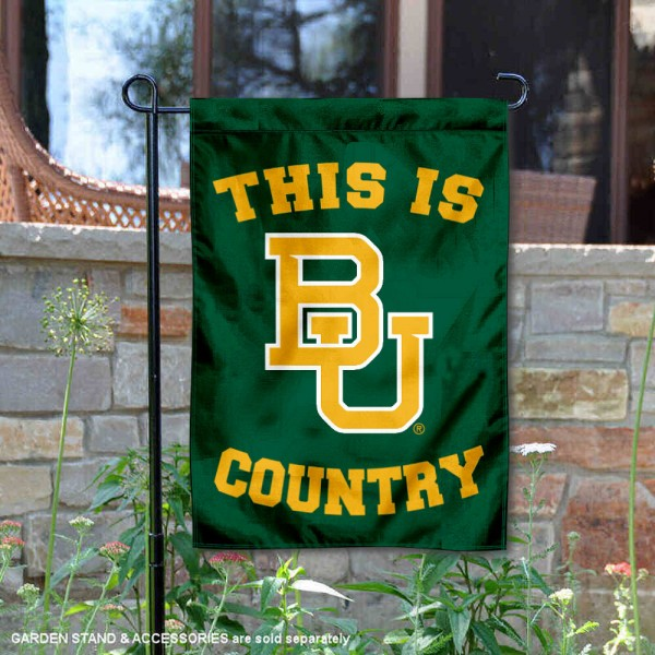 Baylor University Country Garden Flag is 13x18 inches in size, is made of 2-layer polyester, screen printed university athletic logos and lettering, and is readable and viewable correctly on both sides. Available same day shipping, our Baylor University Country Garden Flag is officially licensed and approved by the university and the NCAA.