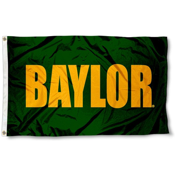 Baylor University Flag measures 3'x5', is made of 100% poly, has quadruple stitched sewing, two metal grommets, and has double sided Baylor University logos. Our Baylor University Flag is officially licensed by the selected university and the NCAA