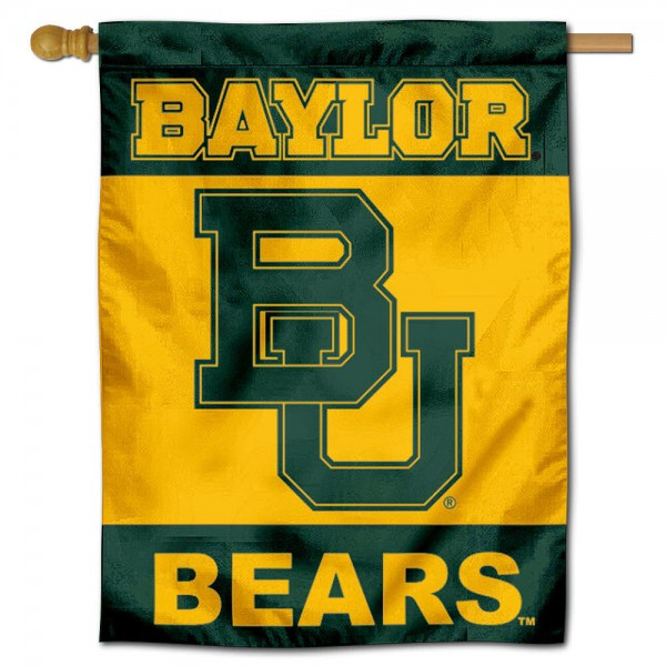 Baylor University House Flag is a vertical house flag which measures 30x40 inches, is made of 2 ply 100% polyester, offers dye sublimated NCAA team insignias, and has a top pole sleeve to hang vertically. Our Baylor University House Flag is officially licensed by the selected university and the NCAA