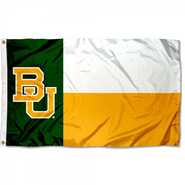 Baylor University State Flag measures 3'x5', is made of 100% poly, has quadruple stitched sewing, two metal grommets, and has double sided Baylor University logos. Our Baylor University State Flag is officially licensed by the selected university and the NCAA