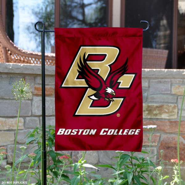 BC Eagles Garden Flag is 13x18 inches in size, is made of 2-layer polyester, screen printed BC Eagles athletic logos and lettering. Available with Same Day Express Shipping, Our BC Eagles Garden Flag is officially licensed and approved by BC Eagles and the NCAA.