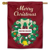 BC Eagles Happy Holidays Banner Flag