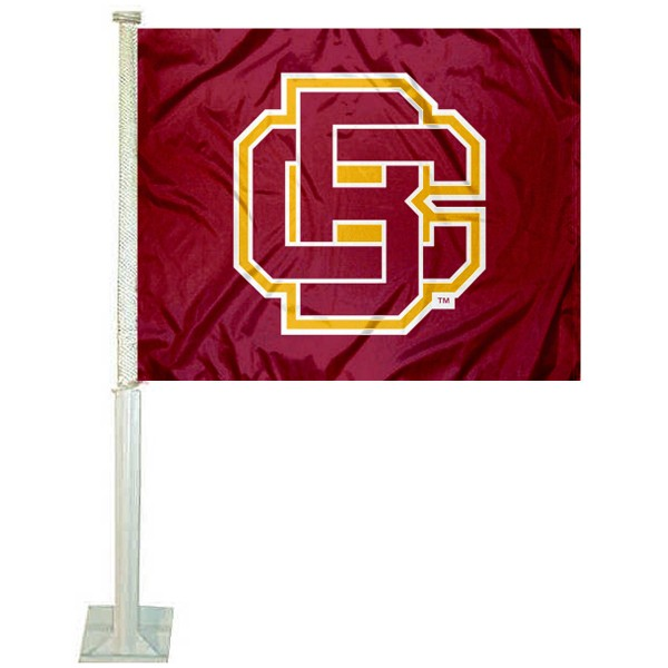 BCU Wildcats Logo Car Flag measures 12x15 inches, is constructed of sturdy 2 ply polyester, and has screen printed school logos which are readable and viewable correctly on both sides. BCU Wildcats Logo Car Flag is officially licensed by the NCAA and selected university.