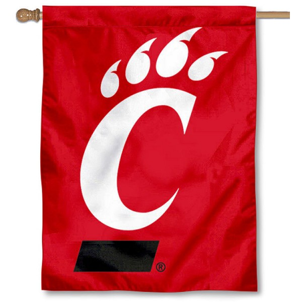 Bearcats 2-Logo House Flag