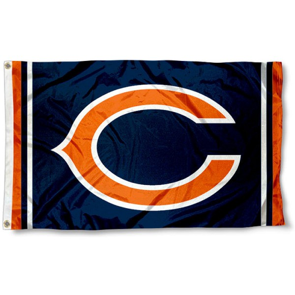 Our Bears C Logo Flag is double sided, made of poly, 3'x5', has two grommets, and double-stitched fly ends. These Bears C Logo Flags are Officially Licensed by the NFL.