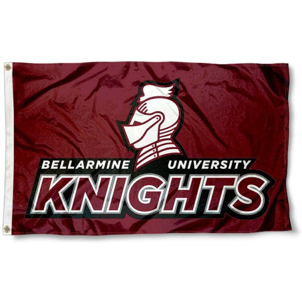 Bellarmine Knights Flag measures 3x5 feet, is made of 100% polyester, offers quadruple stitched flyends, has two metal grommets, and offers screen printed NCAA team logos and insignias. Our Bellarmine Knights Flag is officially licensed by the selected university and NCAA.