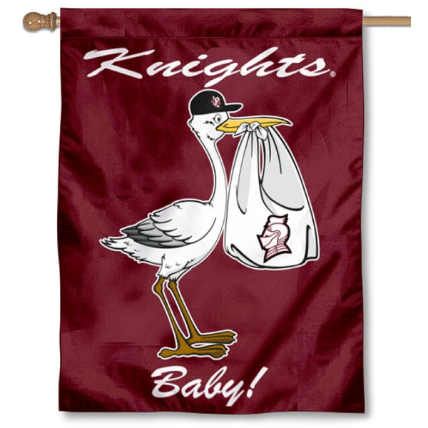 Bellarmine Knights New Baby Flag measures 30x40 inches, is made of poly, has a top hanging sleeve, and offers dye sublimated Bellarmine Knights logos. This Decorative Bellarmine Knights New Baby House Flag is officially licensed by the NCAA.
