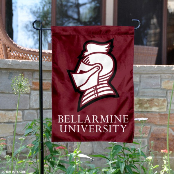 Bellarmine University Garden Flag is 13x18 inches in size, is made of 2-layer polyester, screen printed university athletic logos and lettering, and is readable and viewable correctly on both sides. Available same day shipping, our Bellarmine University Garden Flag is officially licensed and approved by the university and the NCAA.