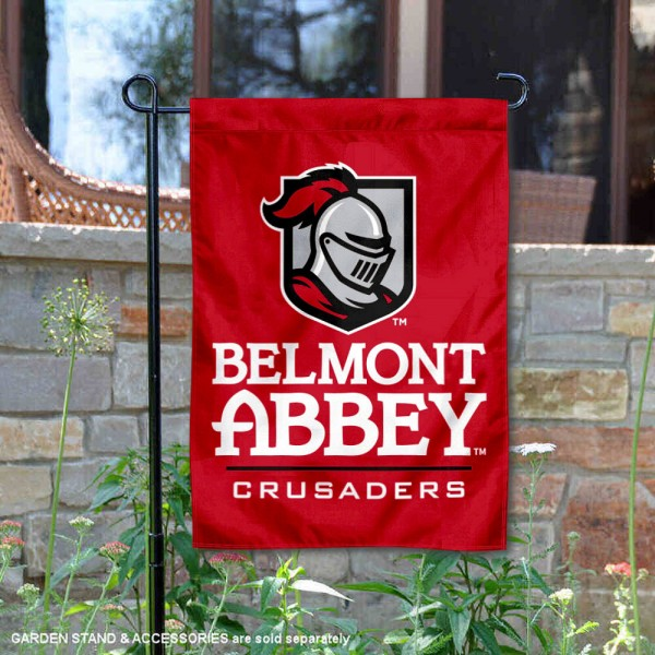 Belmont Abbey Garden Flag is 13x18 inches in size, is made of 2-layer polyester, screen printed university athletic logos and lettering, and is readable and viewable correctly on both sides. Available same day shipping, our Belmont Abbey Garden Flag is officially licensed and approved by the university and the NCAA.