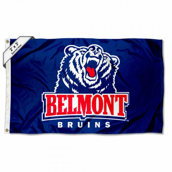 Belmont Bruins Small 2'x3' Flag measures 2x3 feet, is made of 100% polyester, offers quadruple stitched flyends, has two brass grommets, and offers printed Belmont Bruins logos, letters, and insignias. Our 2x3 foot flag is Officially Licensed by the selected university.