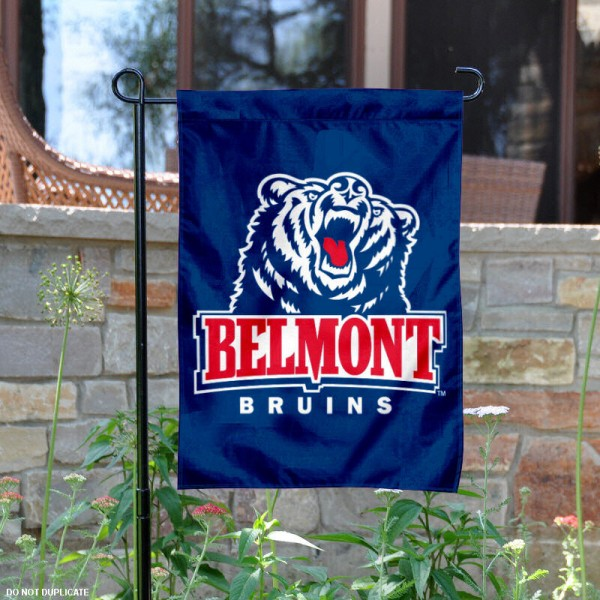 Belmont Garden Flag is 13x18 inches in size, is made of 2-layer polyester, screen printed Belmont athletic logos and lettering. Available with Same Day Express Shipping, Our Belmont Garden Flag is officially licensed and approved by Belmont and the NCAA.