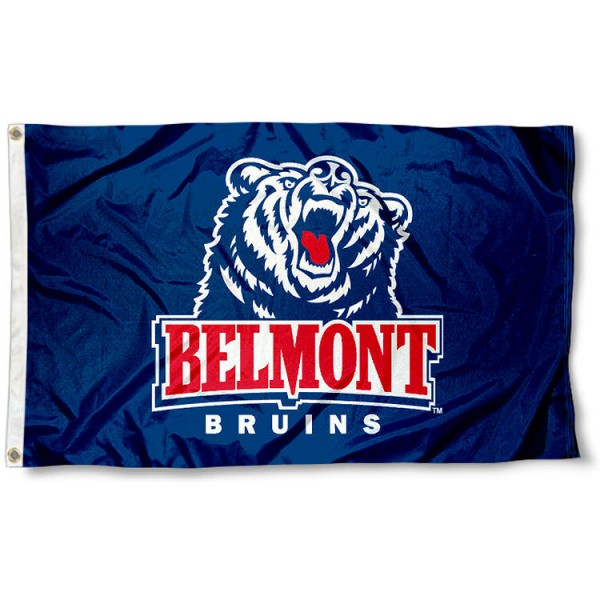 Belmont University Flag measures 3'x5', is made of 100% poly, has quadruple stitched sewing, two metal grommets, and has double sided Belmont University logos. Our Belmont University Flag is officially licensed by the selected university and the NCAA