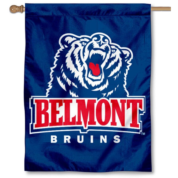 Belmont University House Flag is a vertical house flag which measures 30x40 inches, is made of 2 ply 100% polyester, offers dye sublimated NCAA team insignias, and has a top pole sleeve to hang vertically. Our Belmont University House Flag is officially licensed by the selected university and the NCAA