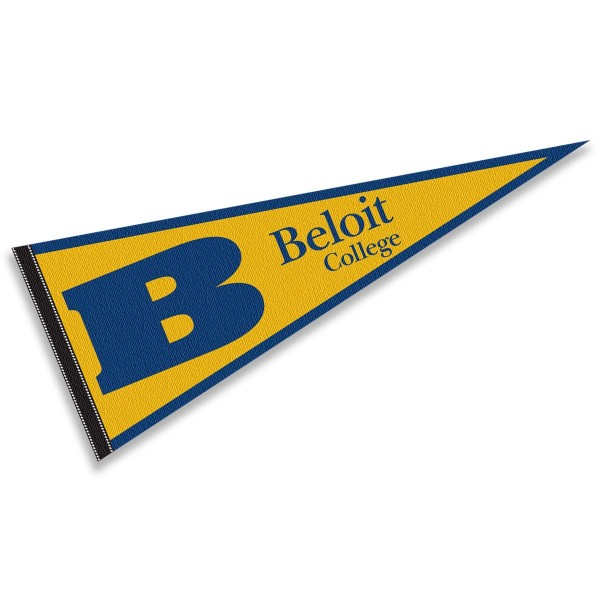Beloit College Buccaneers Pennant consists of our full size sports pennant which measures 12x30 inches, is constructed of felt, is single sided imprinted, and offers a pennant sleeve for insertion of a pennant stick, if desired. This Beloit College Buccaneers Pennant Decorations is Officially Licensed by the selected university and the NCAA.