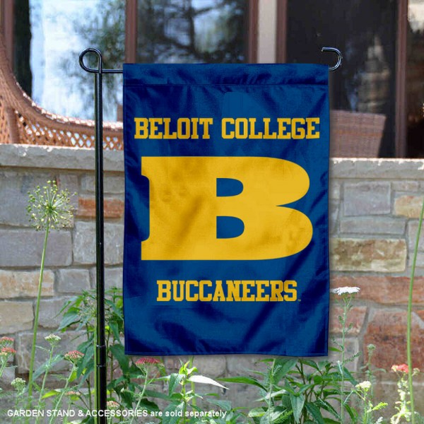 Beloit College Bucs Garden Flag is 13x18 inches in size, is made of 2-layer polyester, screen printed university athletic logos and lettering, and is readable and viewable correctly on both sides. Available same day shipping, our Beloit College Bucs Garden Flag is officially licensed and approved by the university and the NCAA.