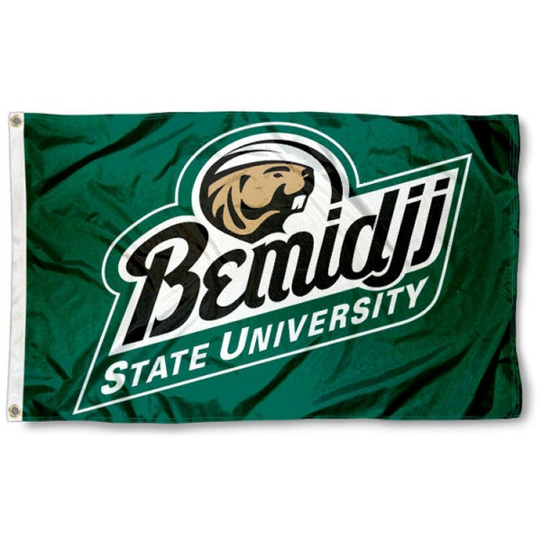 Bemidji State Beavers Flag is made of 100% nylon, offers quad stitched flyends, measures 3x5 feet, has two metal grommets, and is viewable from both side with the opposite side being a reverse image. Our Bemidji State Beavers Flag is officially licensed by the selected college and NCAA