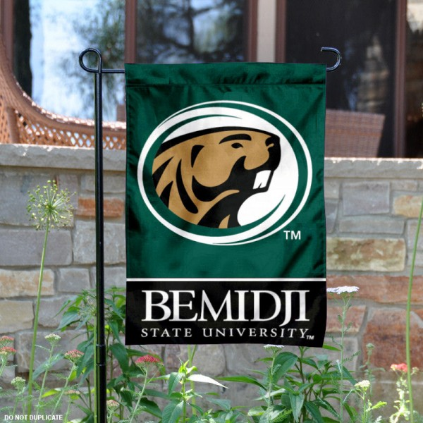 Bemidji State Garden Flag is 13x18 inches in size, is made of 2-layer polyester, screen printed Bemidji State athletic logos and lettering. Available with Same Day Express Shipping, Our Bemidji State Garden Flag is officially licensed and approved by Bemidji State and the NCAA.