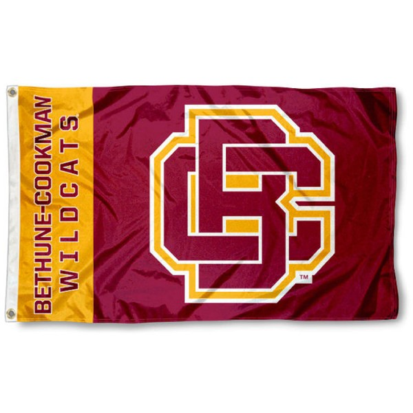 "Bethune Cookman Wildcats ""BC"" Logo Flag is made of 100% nylon, offers quad stitched flyends, measures 3x5 feet, has two metal grommets, and is viewable from both side with the opposite side being a reverse image. Our Bethune Cookman Wildcats ""BC"" Logo Flag is officially licensed by the selected college and NCAA"