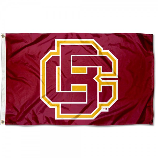 Bethune Cookman Wildcats Flag measures 3x5 feet, is made of 100% polyester, offers quadruple stitched flyends, has two metal grommets, and offers screen printed NCAA team logos and insignias. Our Bethune Cookman Wildcats Flag is officially licensed by the selected university and NCAA.