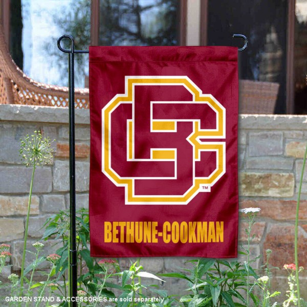 Bethune Cookman Wildcats Garden Flag is 13x18 inches in size, is made of 2-layer polyester, screen printed university athletic logos and lettering, and is readable and viewable correctly on both sides. Available same day shipping, our Bethune Cookman Wildcats Garden Flag is officially licensed and approved by the university and the NCAA.