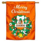 BGSU Falcons Happy Holidays Banner Flag
