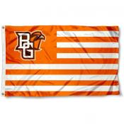BGSU Falcons Stripes Flag