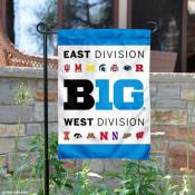 Big 10 Conference Garden and Window Flag