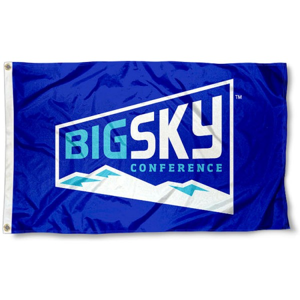 Big Sky Conference Flag measures 3'x5', is made of 100% poly, has quadruple stitched sewing, two metal grommets, and has double sided Big Sky Conference logos. Our Big Sky Conference Flag is officially licensed by the selected Conference and the NCAA.