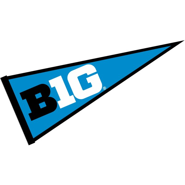 Big Ten Conference Logo Pennant consists of our full size sports pennant which measures 12x30 inches, is constructed of felt, is single sided imprinted, and offers a pennant sleeve for insertion of a pennant stick, if desired. This Big Ten Conference Pennant Decorations is Officially Licensed by the selected university and the NCAA.