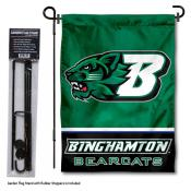 Binghamton University Garden Flag and Stand