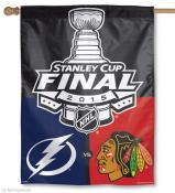 Blackhawks vs. Lightning Dueling 2015 House Flag