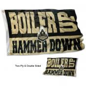 BOILER UP HAMMER DOWN Double Sided Flag