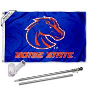 Boise State Broncos Blue Flag Pole and Bracket Kit
