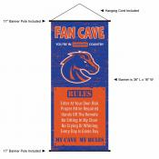 Boise State Broncos Fan Cave Man Cave Banner Scroll