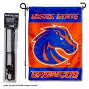 Boise State Broncos Garden Flag and Pole Stand