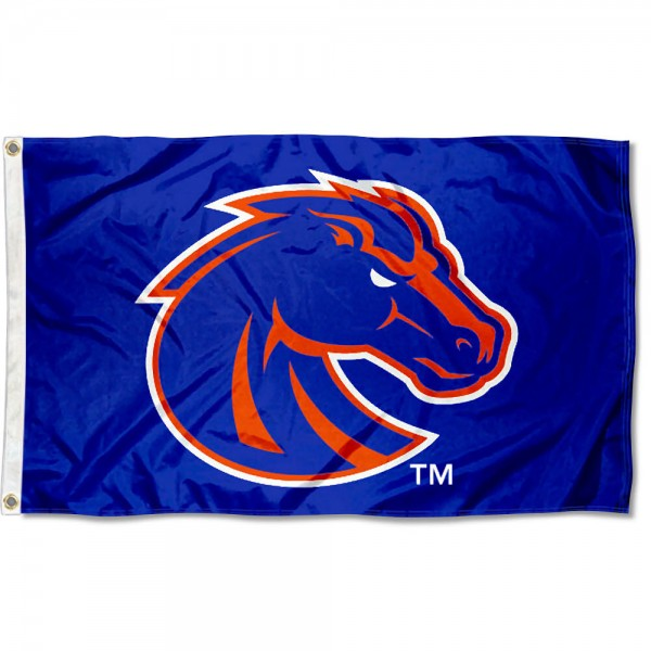 Boise State Flag measures 3'x5', is made of 100% poly, has quadruple stitched sewing, two metal grommets, and has double sided Boise State logos. Our Boise State Flag is officially licensed by the selected university and the NCAA