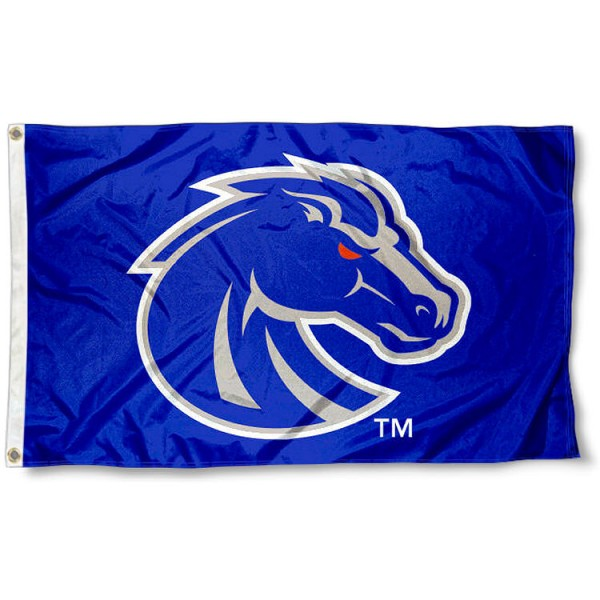 Boise State Gray Broncos Flag measures 3'x5', is made of 100% poly, has quadruple stitched sewing, two metal grommets, and has double sided Boise State University logos. Our Boise State Gray Broncos Flag is officially licensed by the selected university and the NCAA