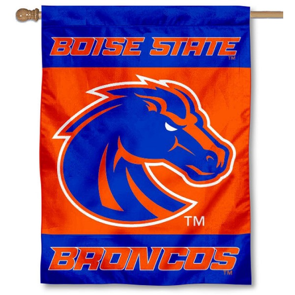 Boise State New Logo House Flag is a vertical house flag which measures 30x40 inches, is made of 2 ply 100% polyester, offers screen printed NCAA team insignias, and has a top pole sleeve to hang vertically. Our Boise State New Logo House Flag is officially licensed by the selected university and the NCAA.
