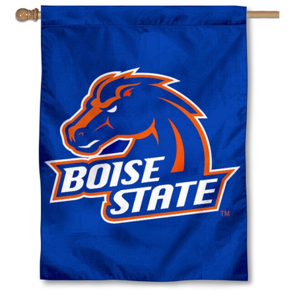 Boise State University Banner Flag is a vertical house flag which measures 30x40 inches, is made of 2 ply 100% polyester, offers dye sublimated NCAA team insignias, and has a top pole sleeve to hang vertically. Our Boise State University Banner Flag is officially licensed by the selected university and the NCAA