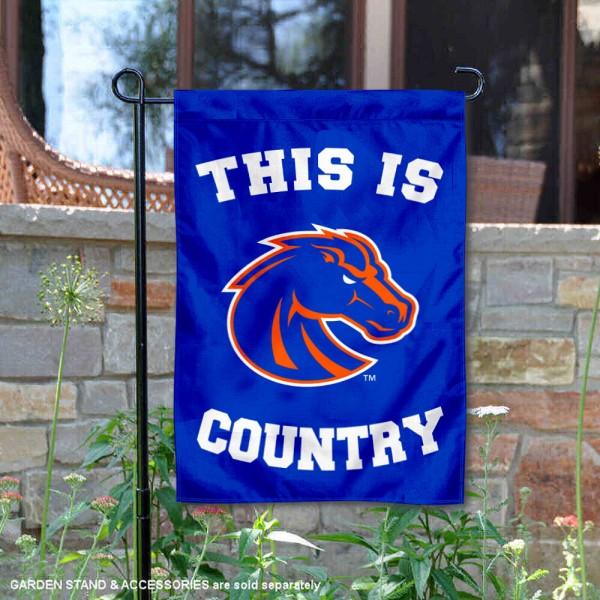 Boise State University Country Garden Flag is 13x18 inches in size, is made of 2-layer polyester, screen printed university athletic logos and lettering, and is readable and viewable correctly on both sides. Available same day shipping, our Boise State University Country Garden Flag is officially licensed and approved by the university and the NCAA.