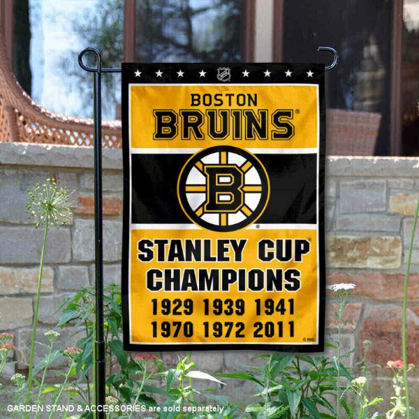 Boston Bruins 6 Time Stanley Cup Champions Garden Flag And