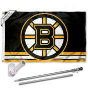 Boston Bruins Flag Pole and Bracket Kit