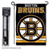 Boston Bruins Garden Flag and Flagpole Stand