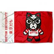 Boston BU Terriers Kawaii Tokyodachi Yuru Kyara Flag