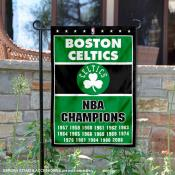 Boston Celtics 17 Time NBA Champions Garden Flag