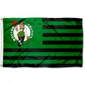 Boston Celtics Americana Stripes Nation Flag