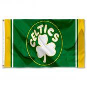 Boston Celtics Hardwood Vintage Retro Throwback Logo 3x5 Flag