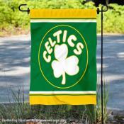 Boston Celtics Retro Hardwood Classics Double Sided Garden Flag