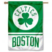 Boston Celtics Shamrock Logo Double Sided House Flag